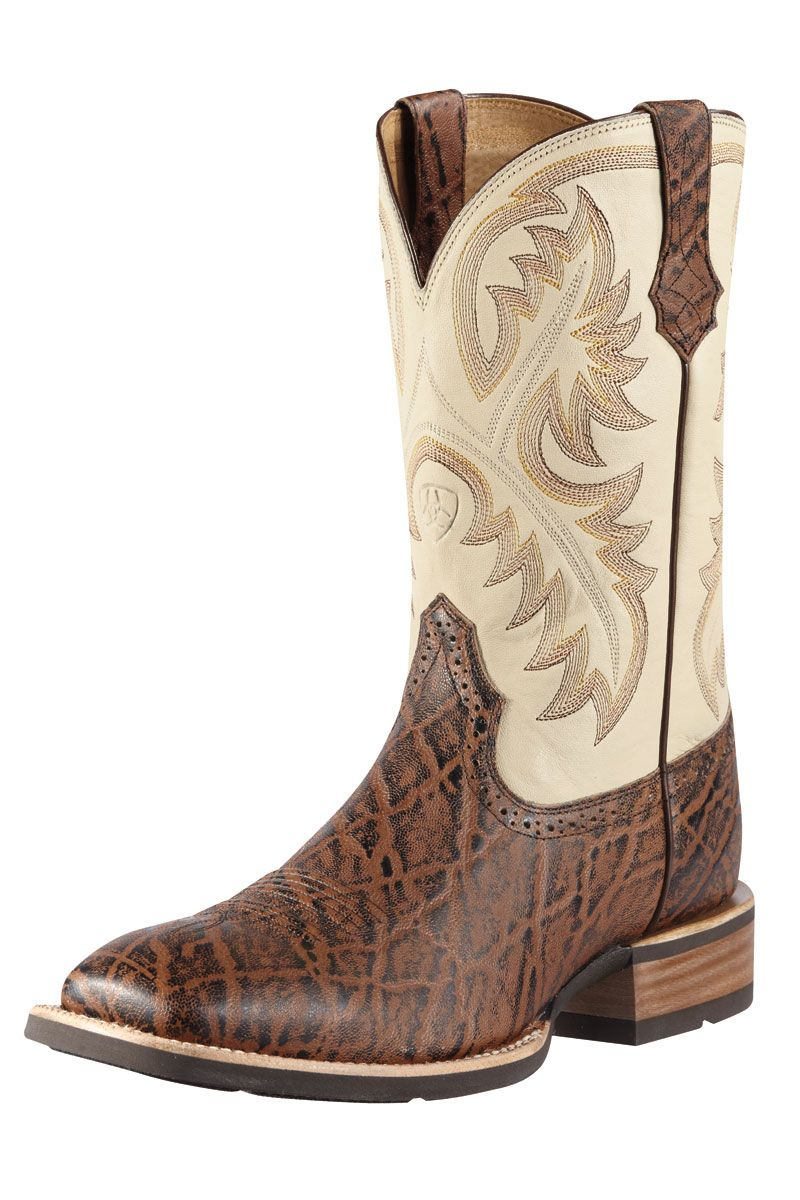 Ariat Men's Elephant Print Brown Cowboy Boots - on sale! | Ariat ...