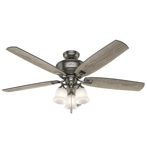 Hunter Millican 58 Antique Pewter Ceiling Fan With Light