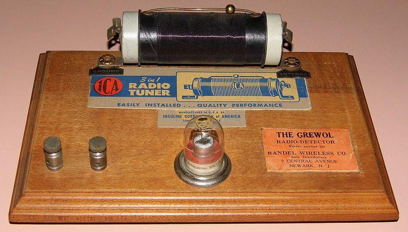Vintage 1920s Era Crystal Radio With Grewol Detector And Ica Radio Tuner Antique Radio Old Radios Radio