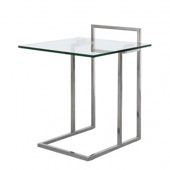 Beistelltisch Ivan Glas Edelstahl Beistelltisch Glas Wohnzimmertische Beistelltische