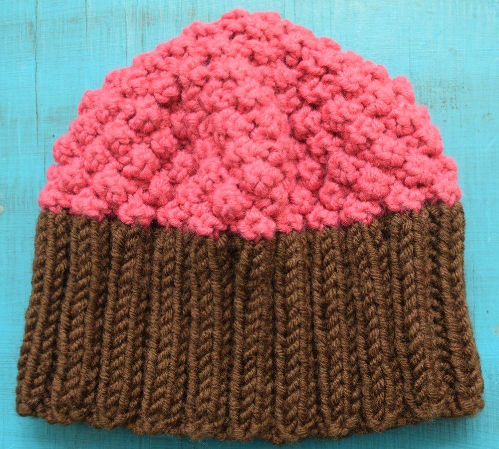 Cupcake Hat | Knit hats, Baby knitting and Knitting patterns