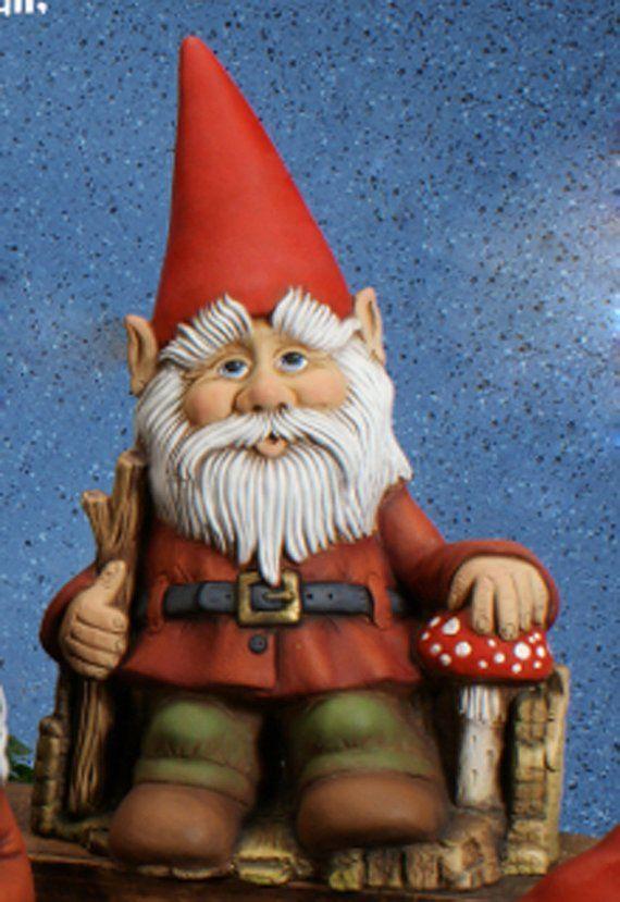 Blinken Gnome Sitting On Throne 14 5 X 9 5 Ceramic Bisque Ready