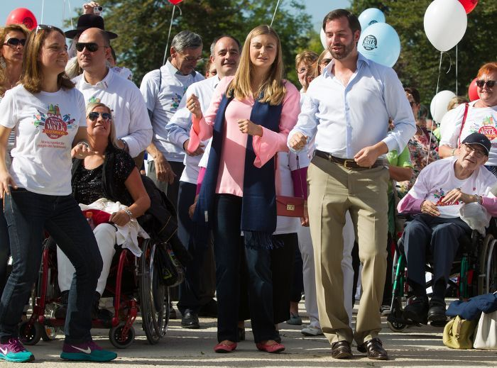 """The Hereditary Grand Duke and Duchess of Luxembourg today participated in the """"Unity Walk."""" The walk has been created to bring awareness to Parkinson's disease and bring support for people who are suffering or have loves ones who suffer from the disorder. The event is organized this year by """"Parkinson Luxembourg""""."""