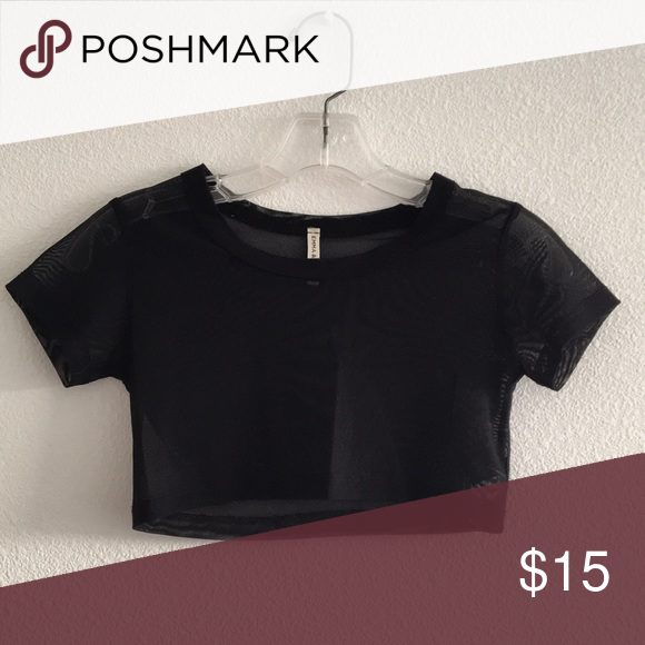 171de41a2c1 Super cropped LF mesh shirt Worn once or twice, great for  festivals/concerts! LF Tops Crop Tops