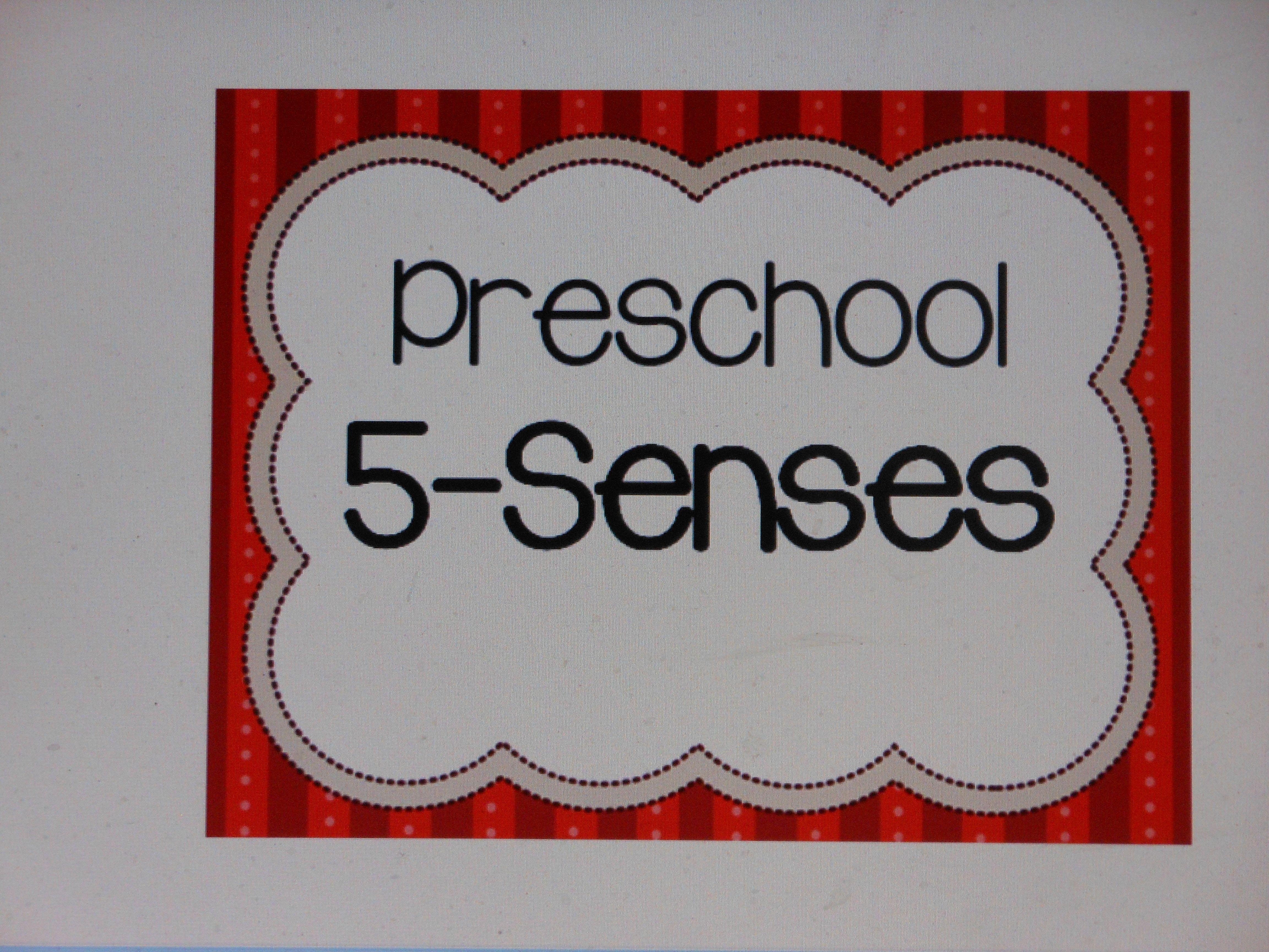 Cover Preschool 5 Senses