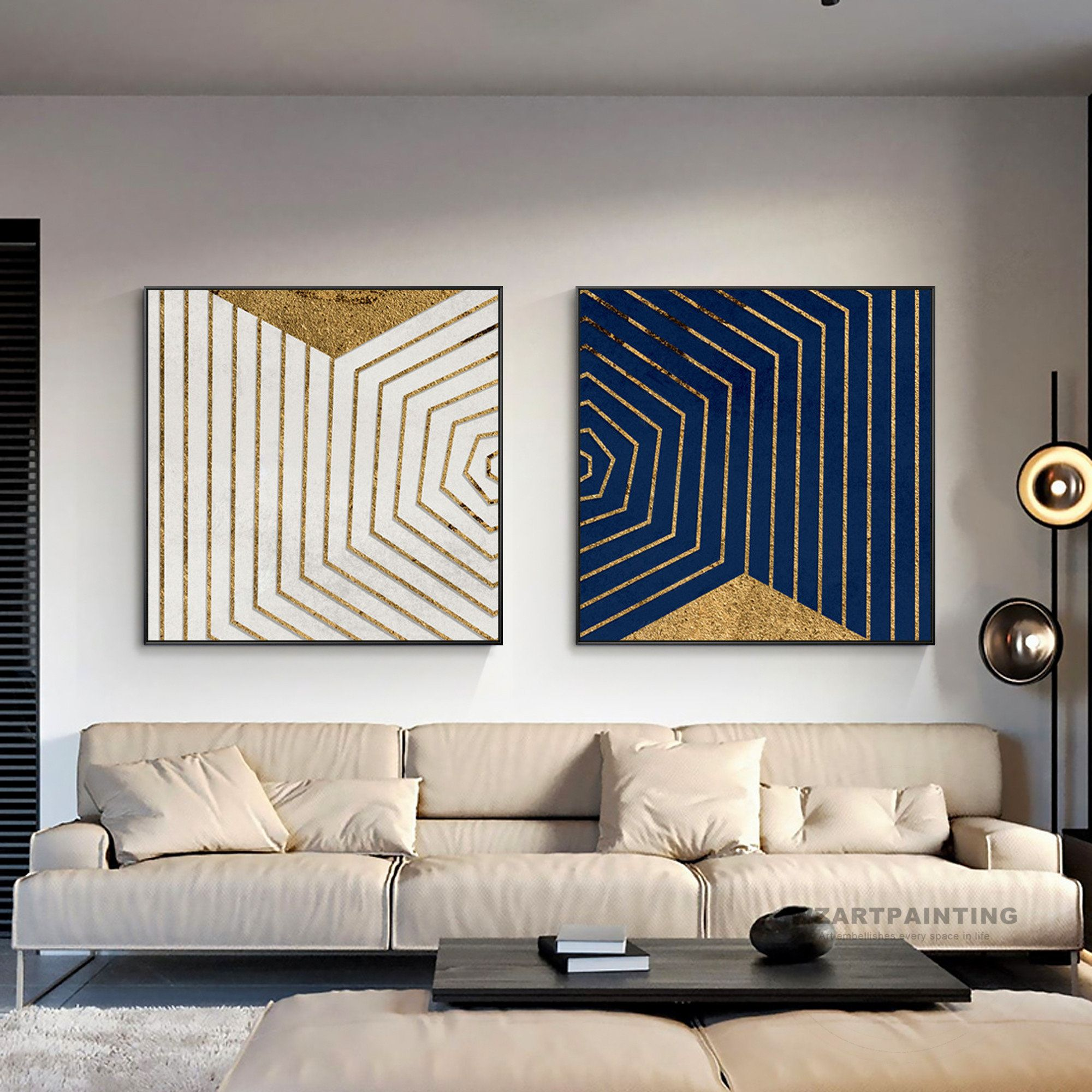 White Gold Black Abstract Art Design Modern Home Decor Minimalist Painting Contemorary Art Print Gold Abstract Painting Contemporary Abstract Art Abstract Canvas Painting