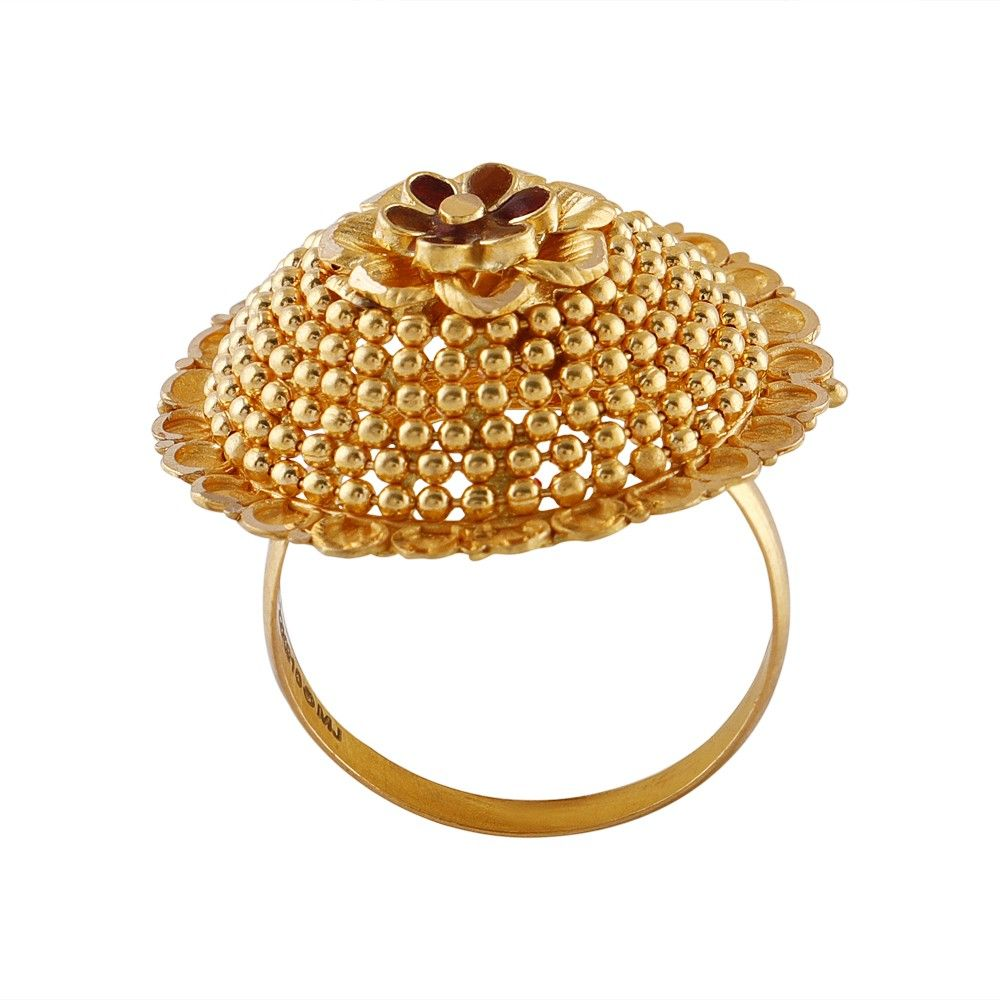 22kt glossy floral gold rings womens jewelry rings gold