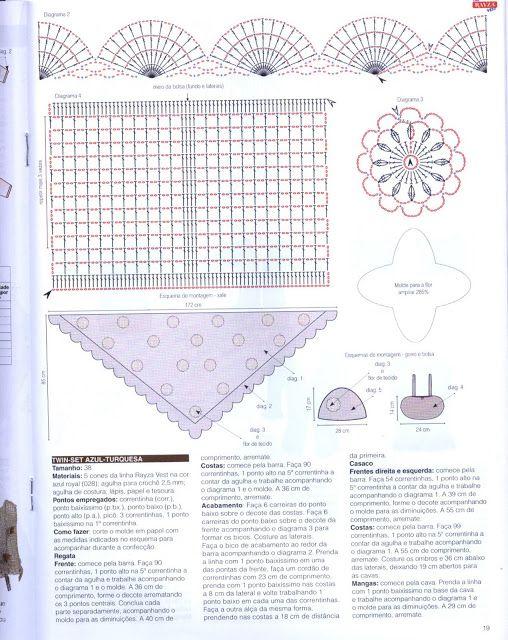 Materiales gráficos Gaby: Conjuntos en crochet paso a paso