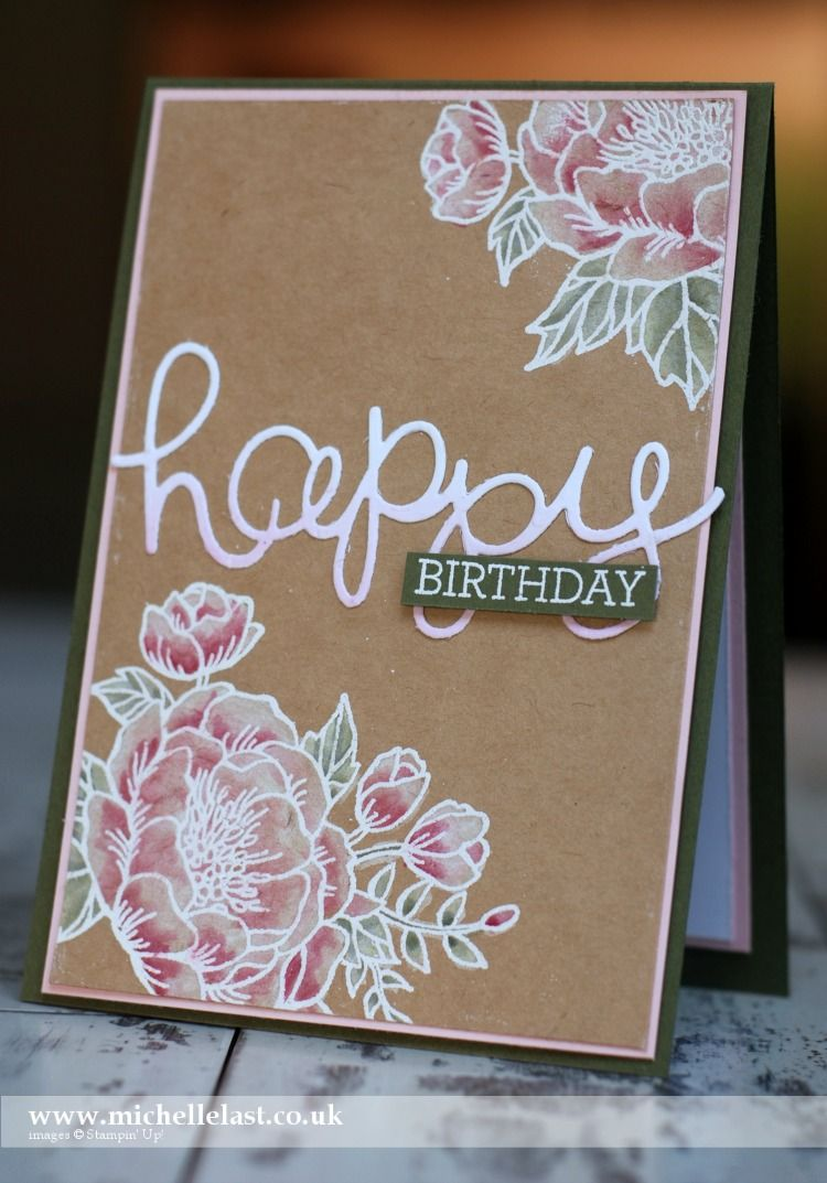 Ordinary Card Making Class Ideas Part - 4: May Technique Class Using The Birthday Blooms Stamp Set - With Michelle  Last. Birthday CardsHappy BirthdayCardmakingStampin ...