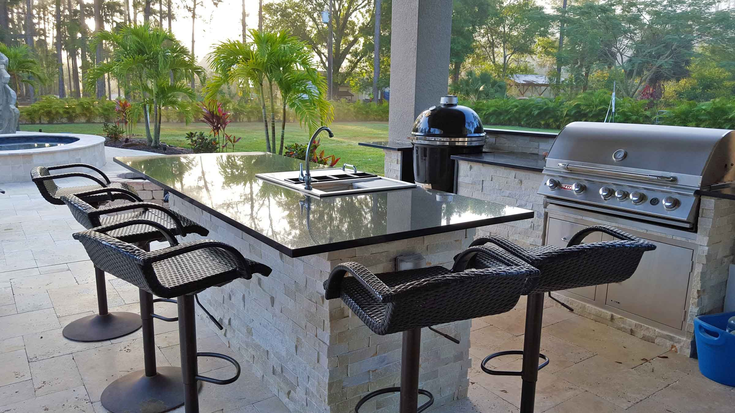Scope Of Work New Installation Of Custom Outdoor Kitchen With Rtf Cabinets Kitchen Outdoor Kitchen Countertops Outdoor Kitchen Design Outdoor Furniture Sets