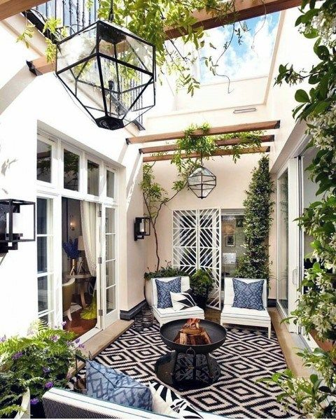 Patio stone ideas also top best outdoor backyard lounge designs domus rh pinterest