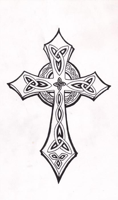 Celtic cross by mouse 7 celtic pinterest mice for Celtic cross with roses tattoo designs