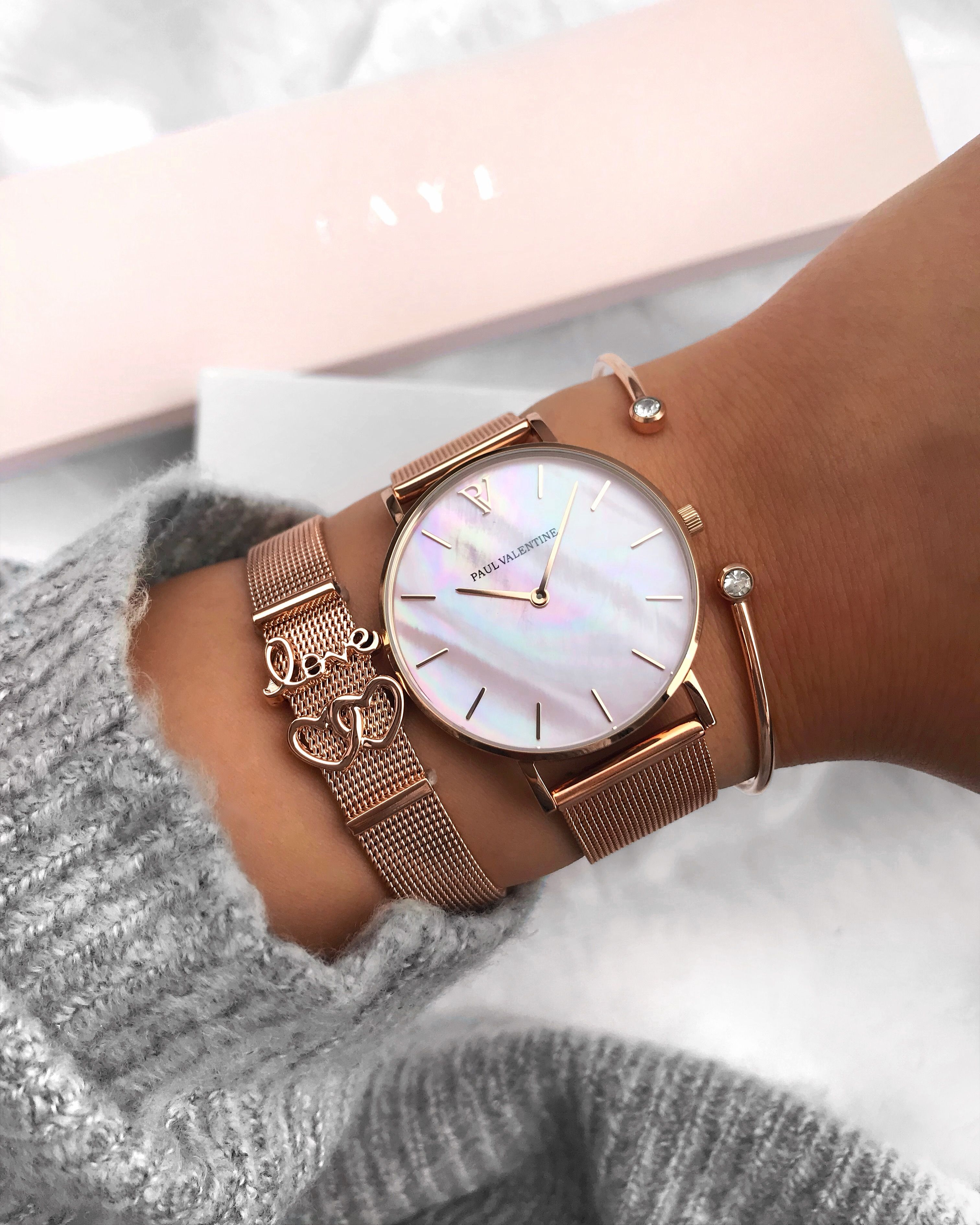 Rose Gold Pink Seashell Collection Dazzle Stylish Watches