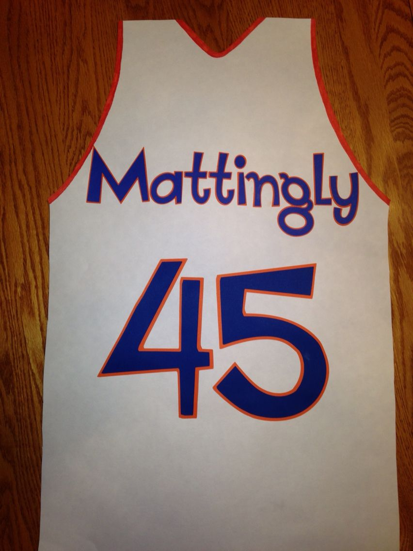 Poster board jersey. I made for Senior night.