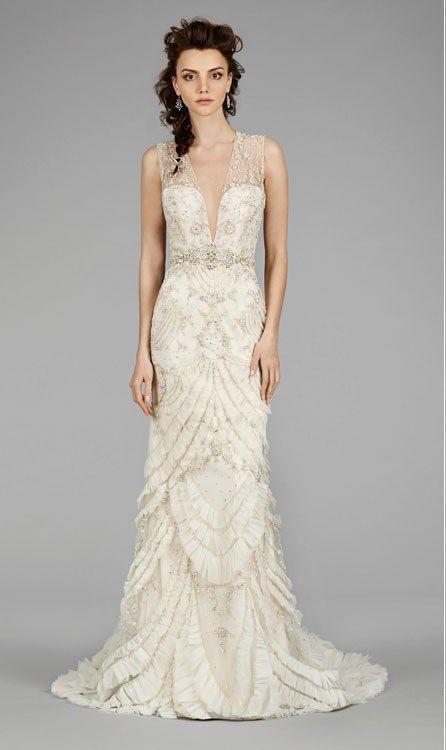Trends In 2020 Lazaro Wedding Dress Art Deco Wedding Dress