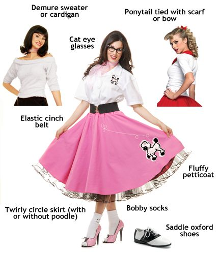 Candy Apples Costumes Has Sock Hop Attire Poodle Skirt For Adults And Other Cool Womens 1950 Any Occasion