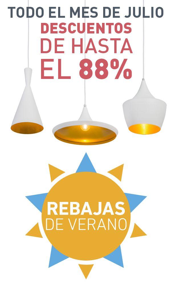 Durante el mes de julio: ¡Rebajas de verano en lamparayluz.es! Puede beneficiarse de hasta de un 88% de descuento. Consulte nuestras ofertas en más de 500 productos diferentes.