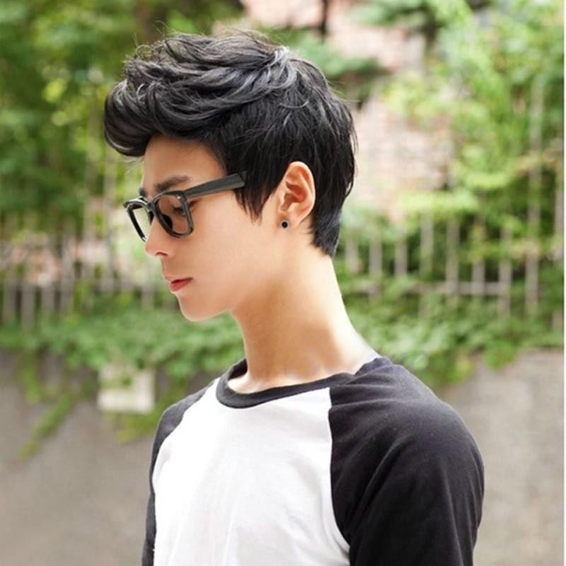 Handsome Korean Style Men Short Brown Hair Full Wigs Cosplay Party