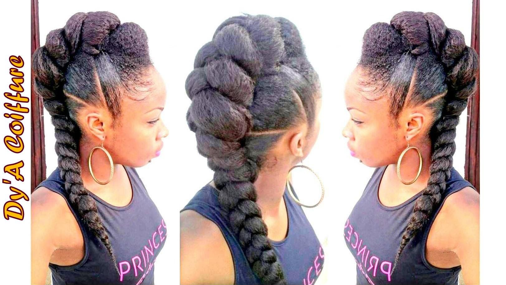 Tutorial mohawk faux hawk style with a jumbo braid youtube