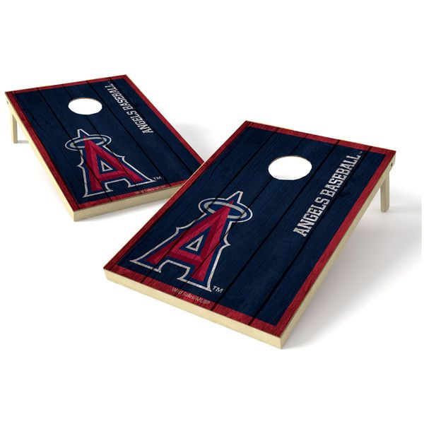 Los Angeles Angels of Anaheim 2' x 3' Big Shield Vintage Tailgate Toss Set - $199.99