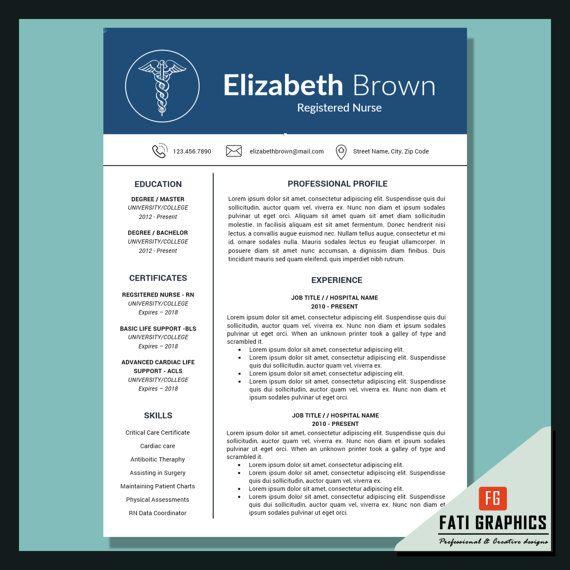 Nursing Resume Template, Nursing CV, Medical CV, Registered Nurse - medical resume template