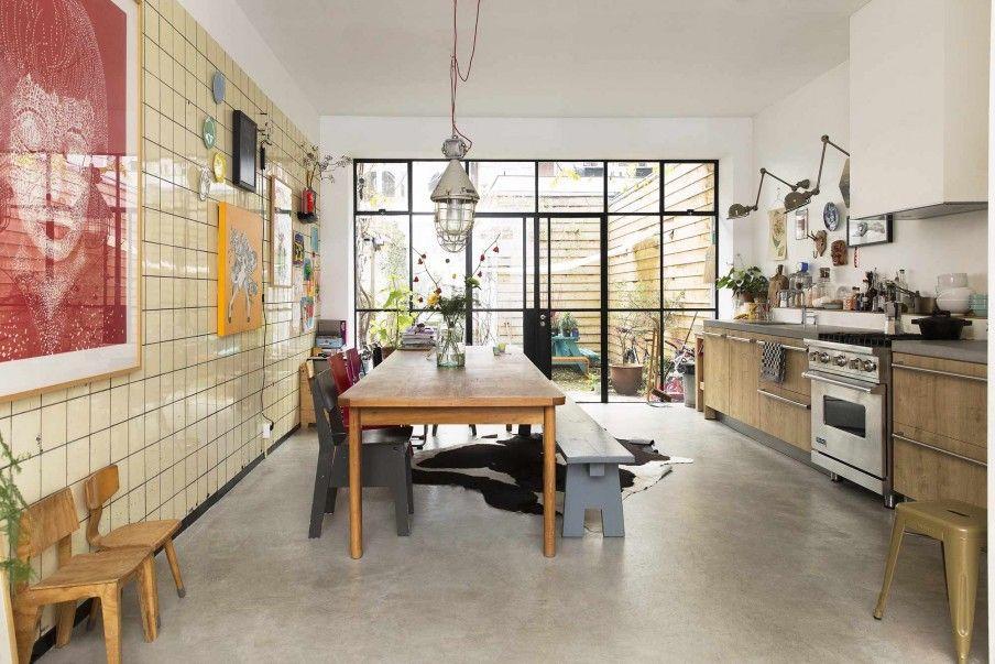 Vtwonen Keuken Houten : Houten keuken met vintage eettafel wooden kitchen with vintage