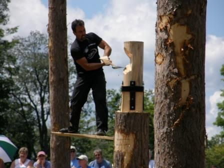 Woodsmen's Show at Cherry Springs State Park - see the top lumberjacks in the country compete in events like cross cut saw, springboard, axe throwing and tree felling - the same events featured in the popular outdoor games on TV.