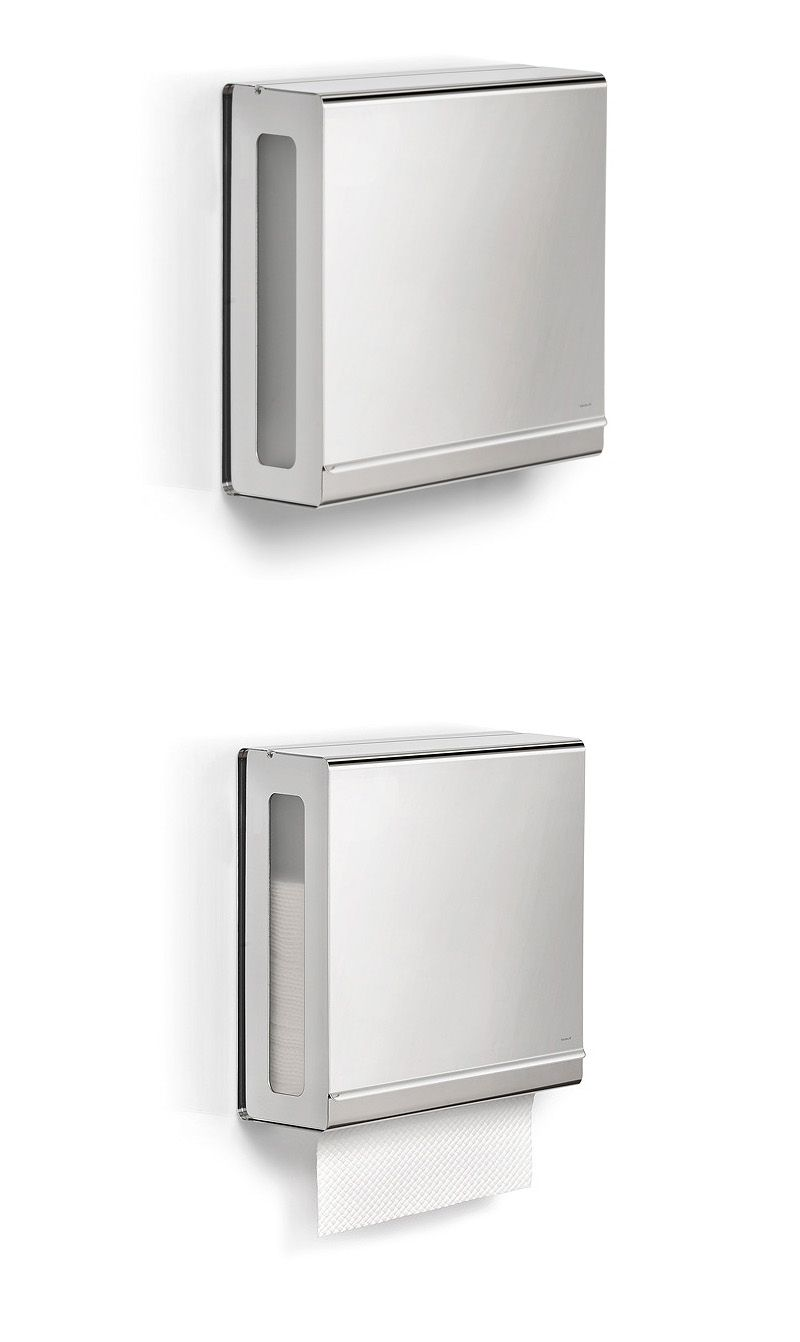 Paper Towels For Bathroom bathroom accessories: blomus polished c-fold paper towel dispenser