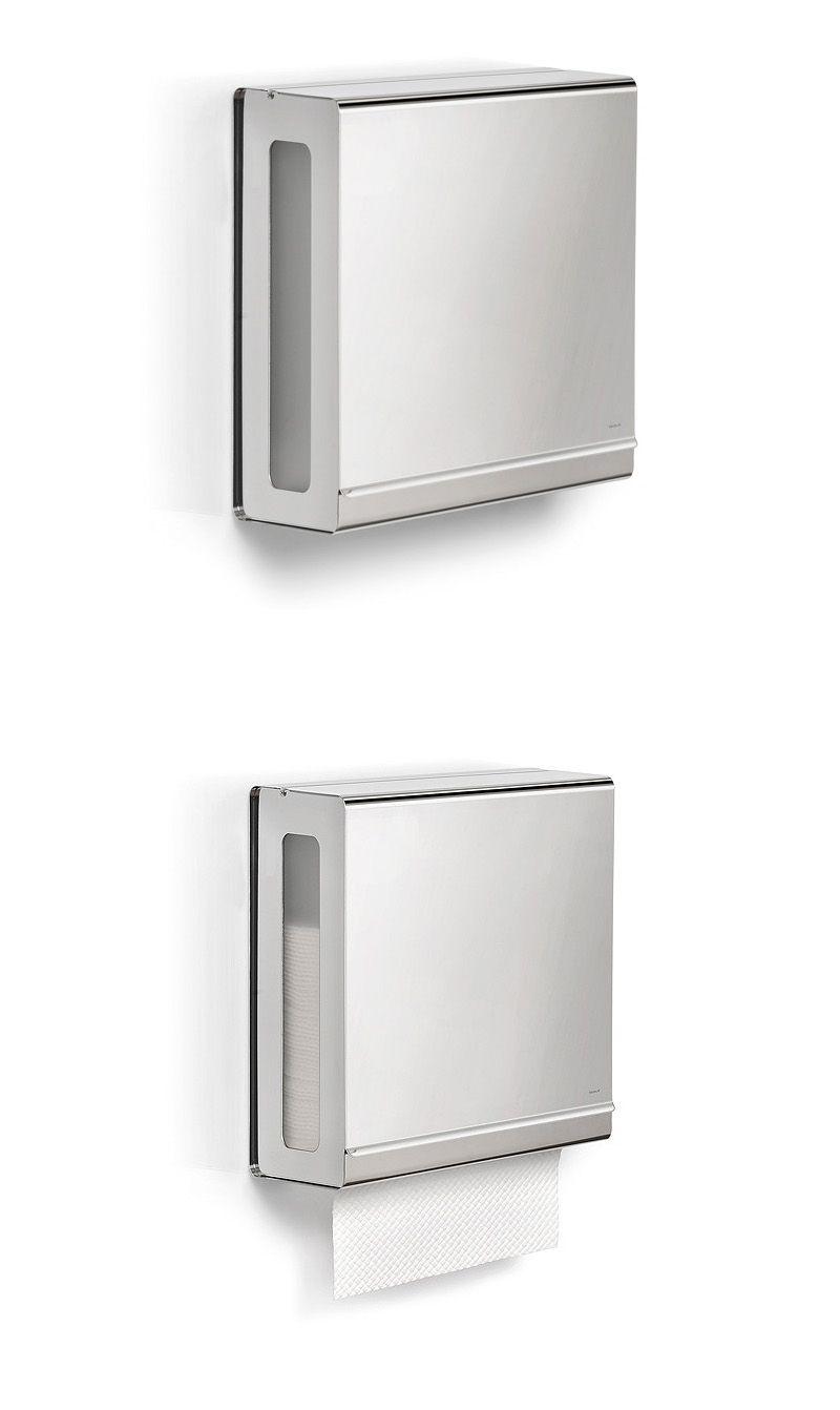 Touchless Stainless Steel C Fold Paper Towel Dispenser Blomus