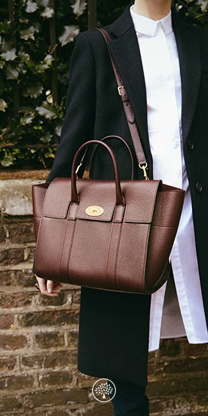 836faba08742 Shop the Bayswater with Strap in Oxblood Natural Grain Leather at Mulberry.com.  The Bayswater is Mulberry s most iconic leather bag.