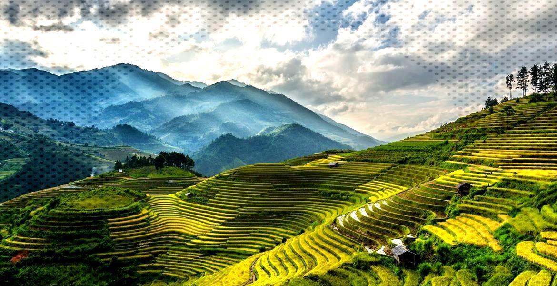 Sapa Valley, Rice Terrace, near Hanoi, Vietnam Sapa Valley, Rice Terrace, near Hanoi, Vietnam