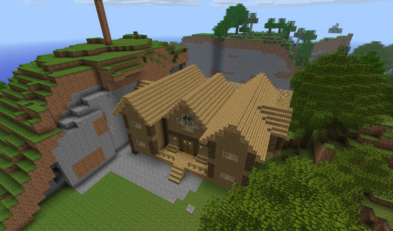 Minecraft Wooden House Blueprints Easy Home Decorating Ideas