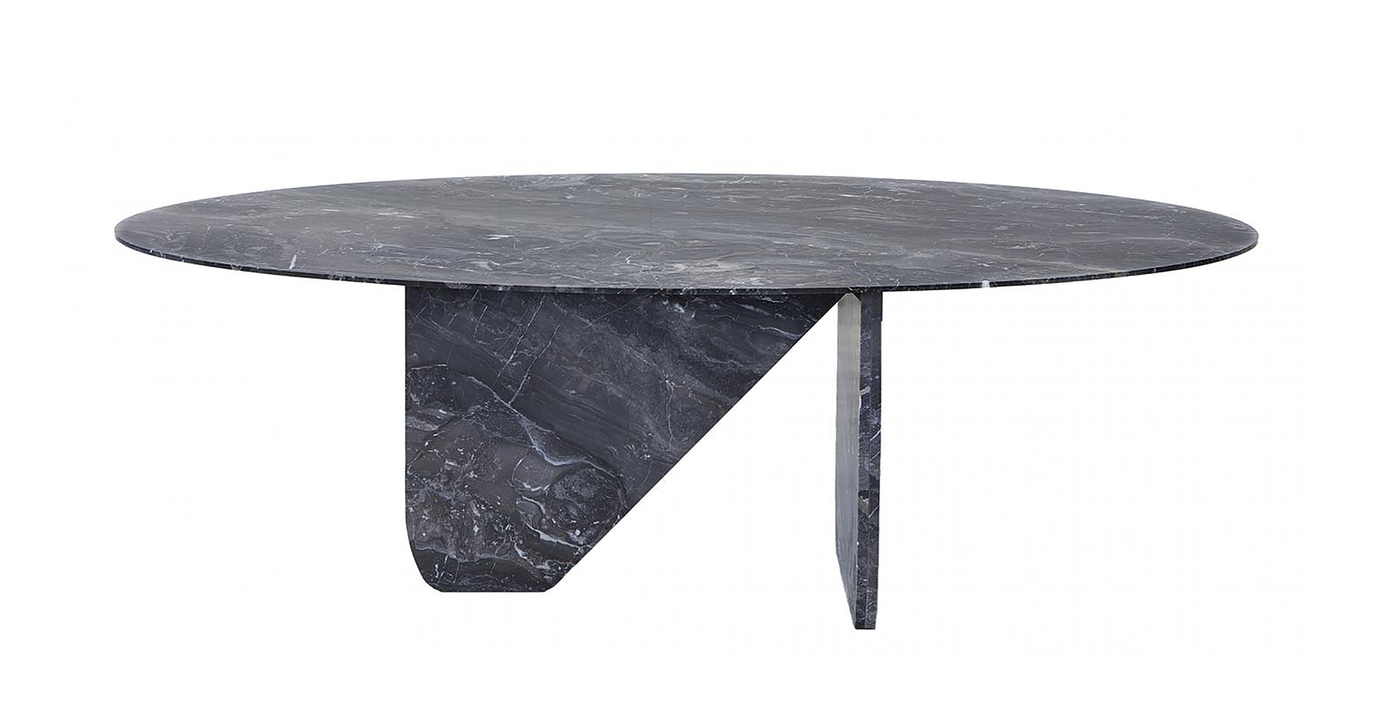 Oval Marble Dining Table Contemporary Industrial Transitional Stone Dining Room Table By Carlyle Dining Table Marble Oval Marble Dining Tables Dining Table