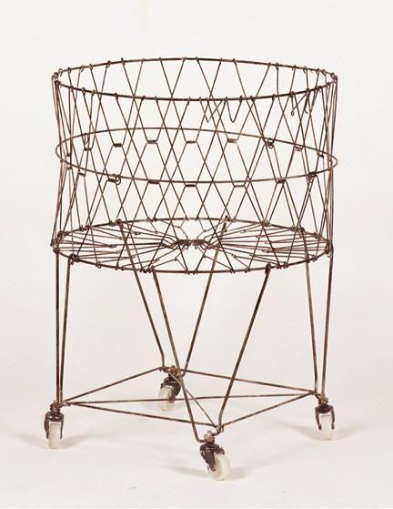Vintage Collapsible Laundry Basket Metal Laundry Basket