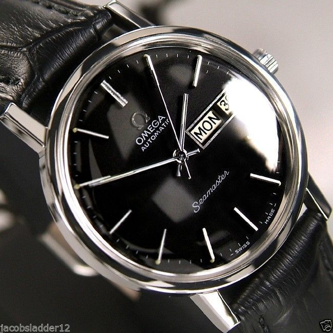 62f2ecee6fa77 OMEGA SEAMASTER AUTOMATIC 23 JEWELS DAY DATE BLAC DIAL VINTAGE SWISS MEN S  WATCH  Omega  LuxuryDressStyles