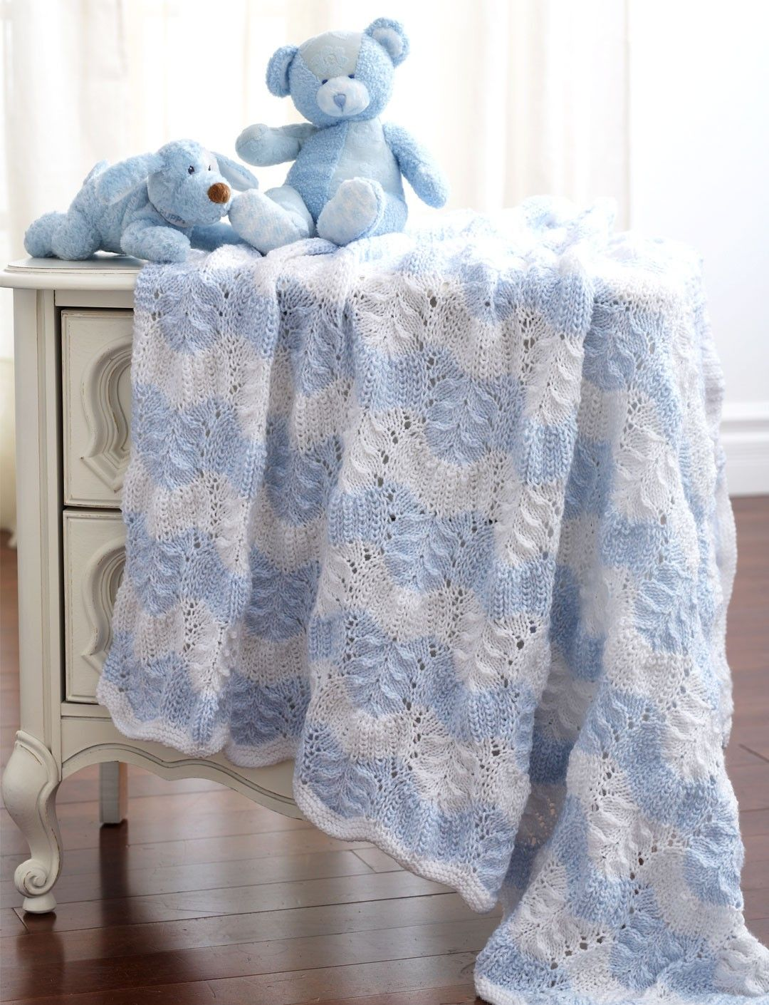Yarnspirations.com - Bernat Feather and Fan Blanket to Knit ...