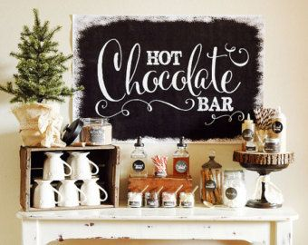 INSTANT DOWNLOAD Rustic Popcorn Bar by penandpaperflowers on Etsy #hotchocolatebar
