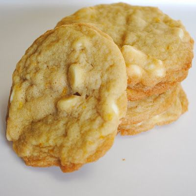 Orange white chocolate cookies
