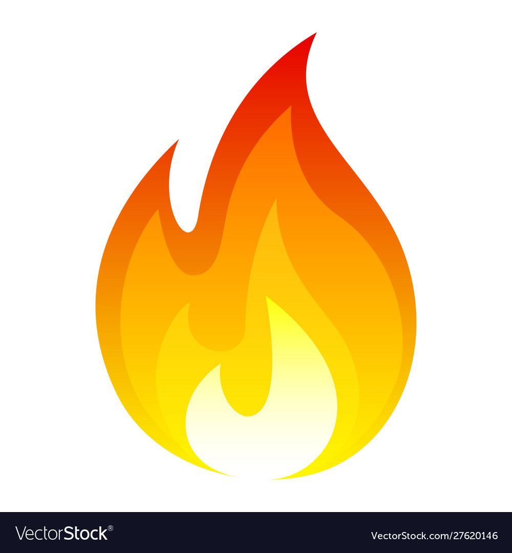 Flame Fire Icon Bright Hot Symbol Royalty Free Vector Image Sponsored Bright Hot Icon Flame Ad Fire Icons Vector Images Line Art Vector