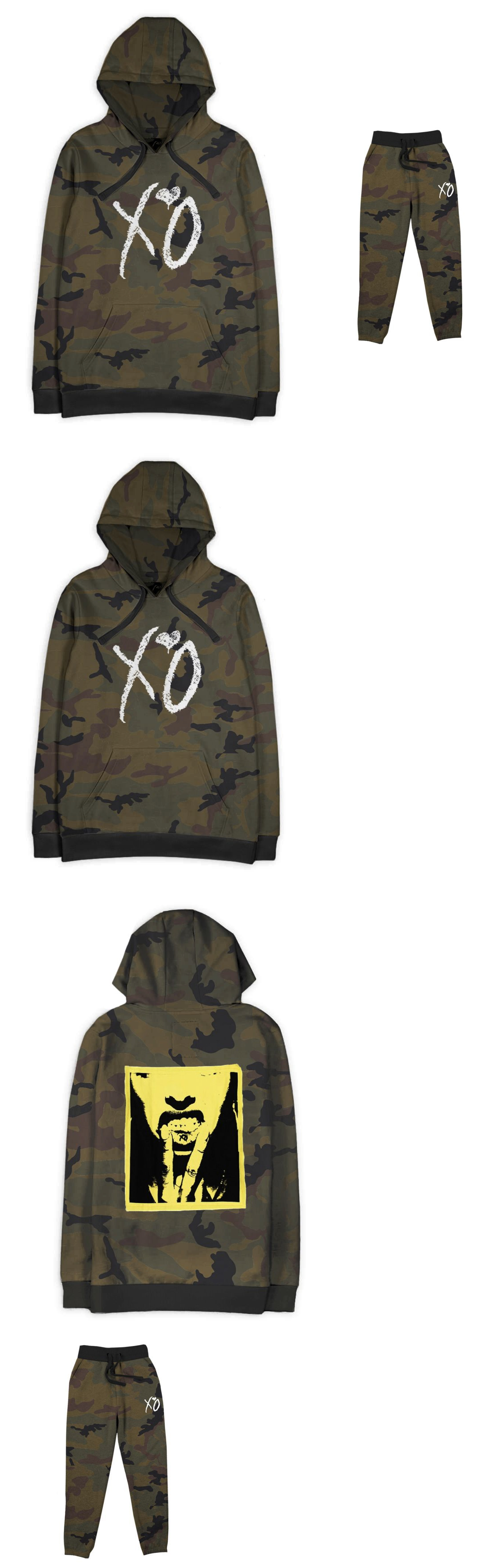 e73f96c6 Mixed Items And Lots 84434 The Weeknd Camo Xo Lip Fleece Pullover