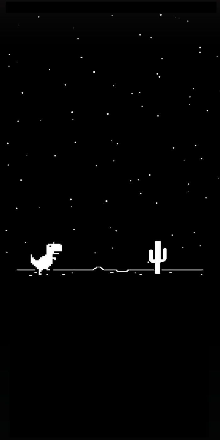 Google Chrome Dinosaur Chrome Dinosaur Google Space Phone Wallpaper Black Aesthetic Wallpaper Dinosaur Wallpaper