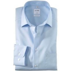 Photo of Olymp Luxor Shirt, bequeme Passform, extra kurzer Arm, blau, 46 Olymp
