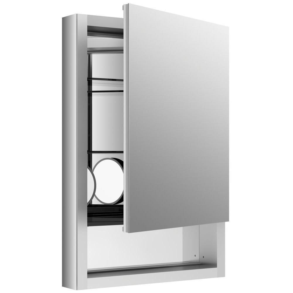 Verdera 20 In W X 30 In H Recessed Medicine Cabinet In Anodized Aluminum Recessed Medicine