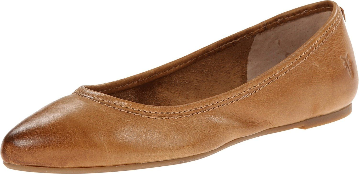 Amazon.com: FRYE Women's Regina Ballet Flat in Camel