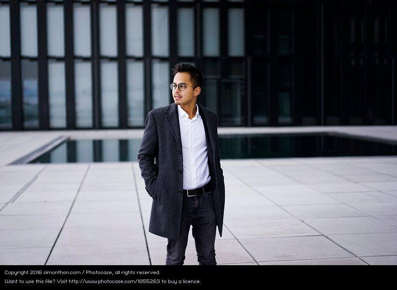 Male Portrait Business Photo Young Asian Man Business Fotografie