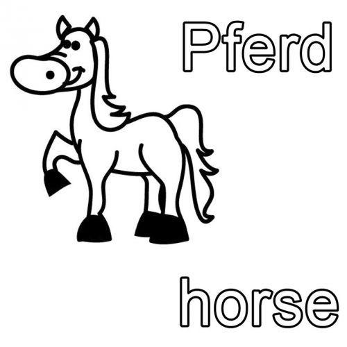 Kostenlose Malvorlage Englisch Lernen Ausmalbild Englisch Lernen Pferd Horse Zum Ausmalen Englisch Lernen Englisch Fur Kinder Ausmalen