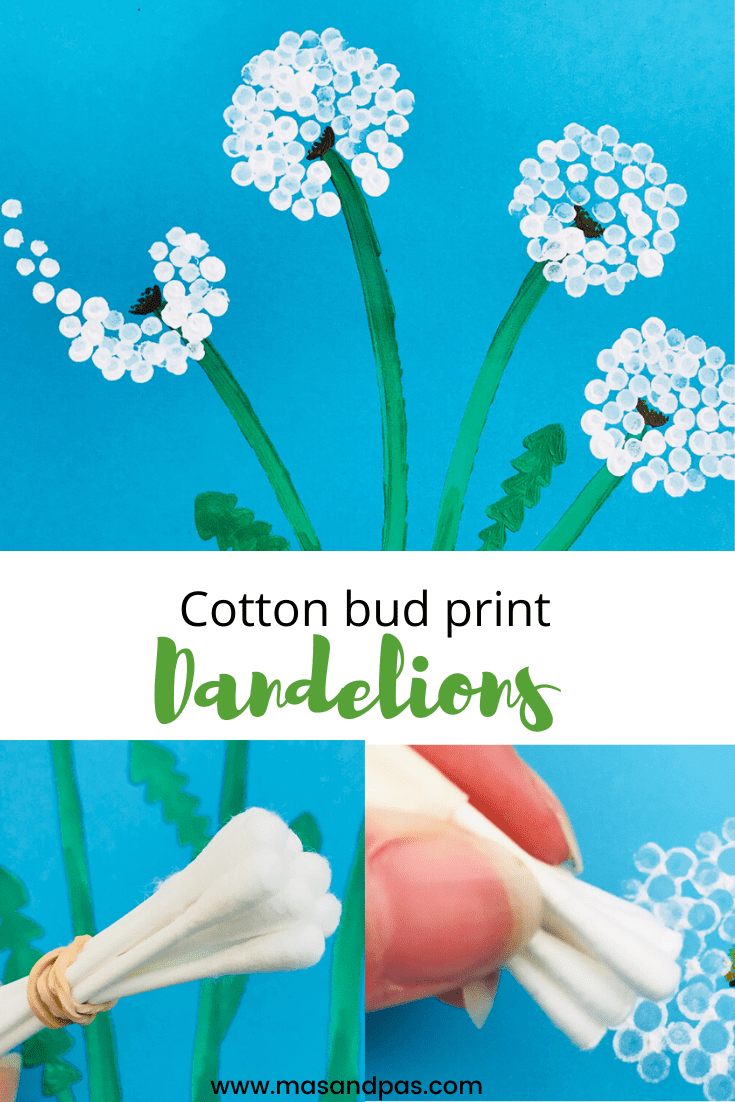 Cotton Bud Dandelion Craft
