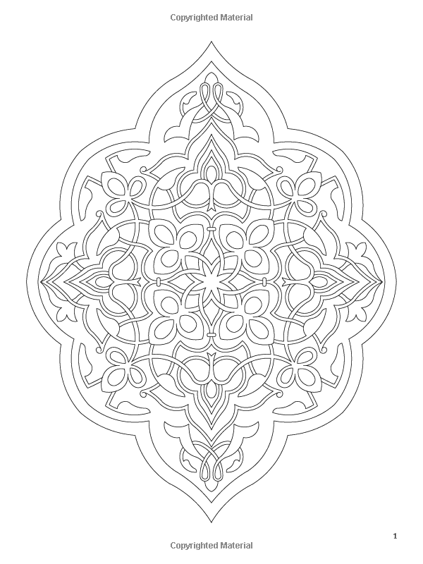 Arabic floral patterns coloring book dover design for Arabic coloring pages