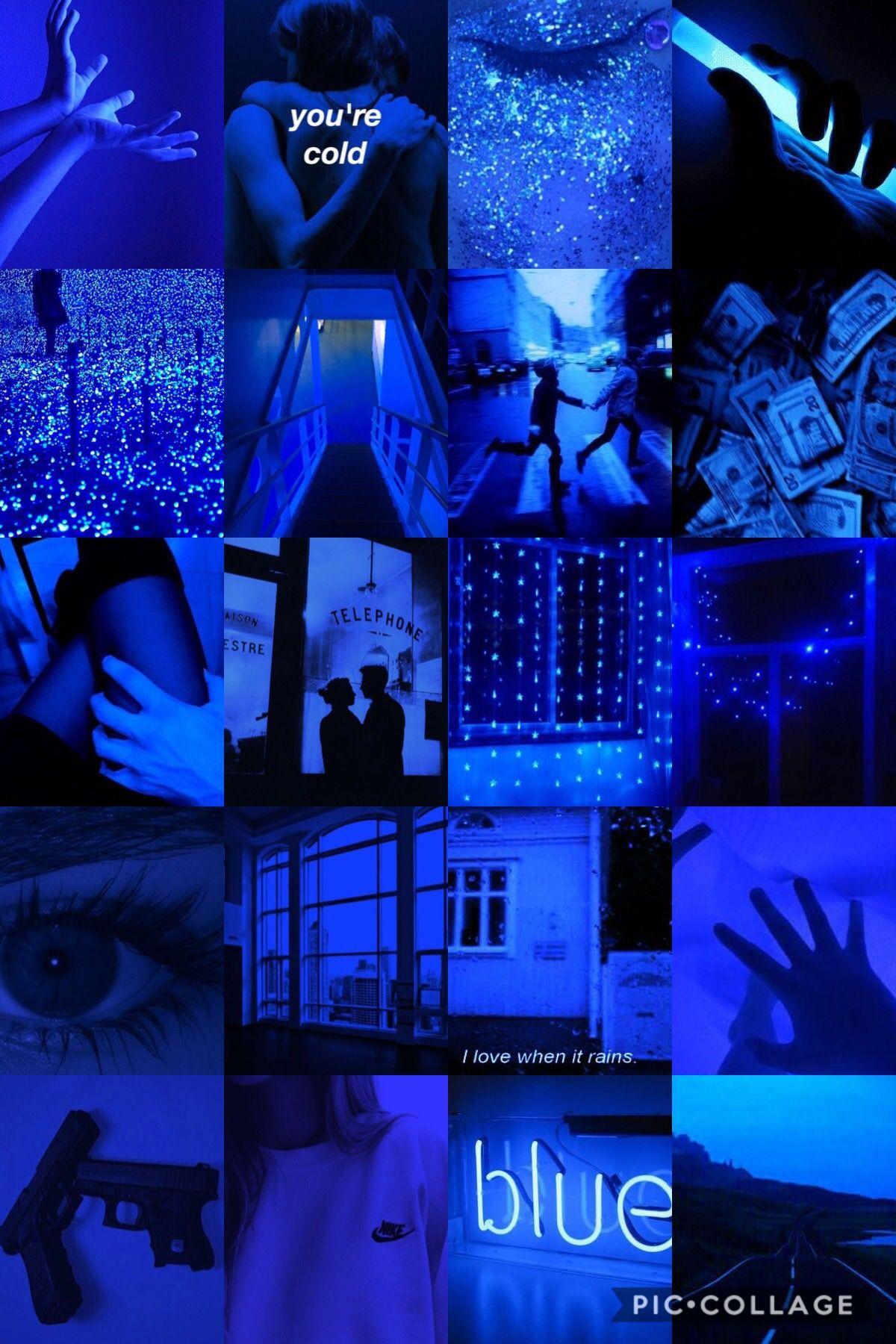 Iphone Neon Blue Aesthetic Wallpaper