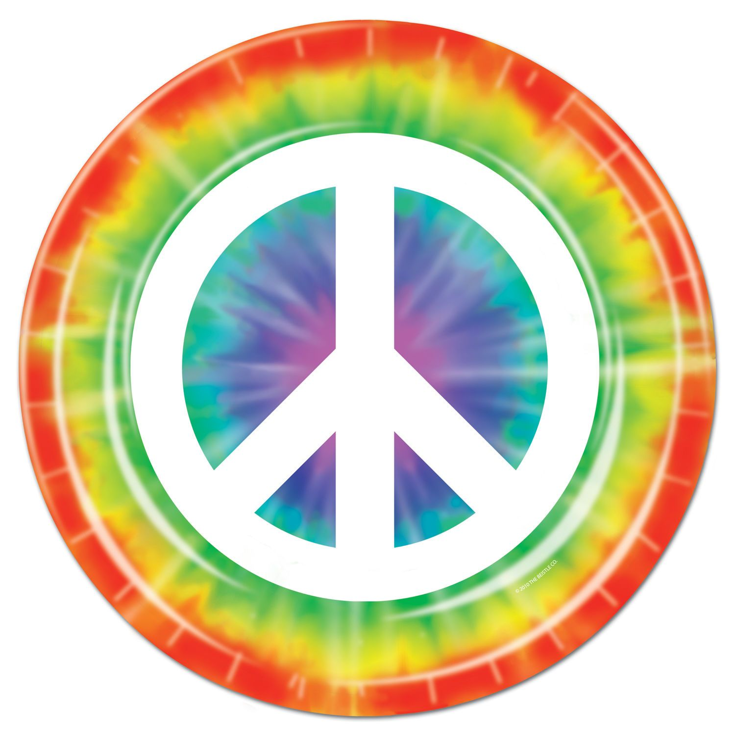 8 Ct 60\u0027s Peace Sign Tie-Dye Hippie Chic 9\  Paper Plates Birthday Party  sc 1 st  Pinterest & 8 Ct 60\u0027s Peace Sign Tie-Dye Hippie Chic 9\